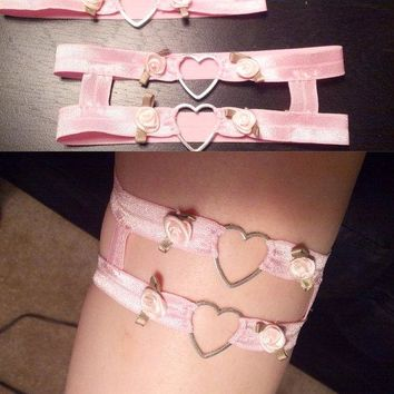 Kawaii Heart Leg Garter