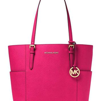 ONETOW MICHAEL Michael Kors Jet Set Travel Large Tote (Ultra Pink)