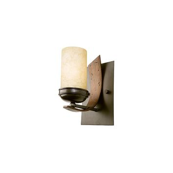 Varaluz Aizen 1 Light Recycled Bath Light (Creamy Etched Glass)