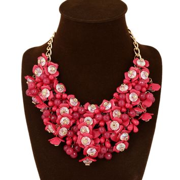 Small Floral Flower Necklacee