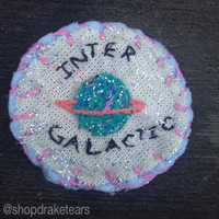 Intergalatic Space Babe Embroidered Patch