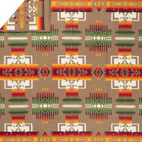 Pendleton ® Indian Blanket, Chief Joseph Blanket, Khaki