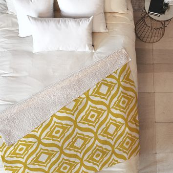 Heather Dutton Trevino Yellow Fleece Throw Blanket