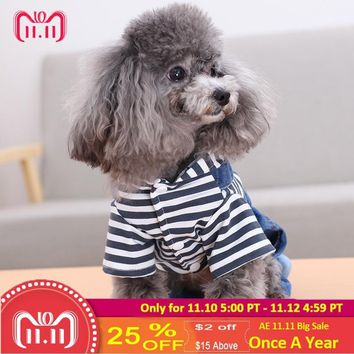 Free shipping Dog Clothes Denim spring jacket Fashion Pet Vest Cowboy Clothing For Yorkshire Chihuahua Teddy Dogs Cat Coat Jeans