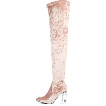 Cape Robbin Fay 15 Women's  Pink High Heel Boot