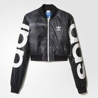adidas Mystic Moon Crop Track Jacket - Black | adidas US