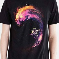 Space Surfing Tee- Black