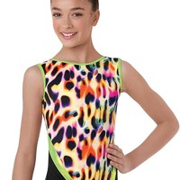 Cheetah Glow Colorblock Dance Leotard | Balera™