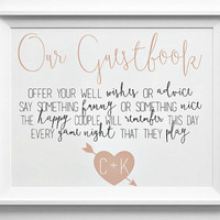 Guestbook Sign Personalized PRINTABLE - Building Blocks