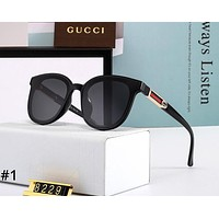 GUCCI 2019 trend new female models retro round face large frame polarized sunglasses #1