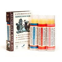 Tropical Drink Lip Balm Set - All Natural Collection of 3 Flavors