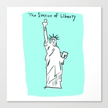 The Statue of Liberty Canvas Print by YTRKMR