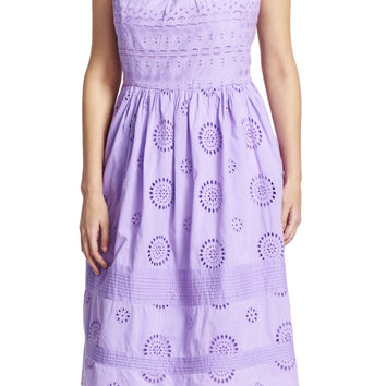 Eyelet Fit and Flare Sundress - Adrianna Papell