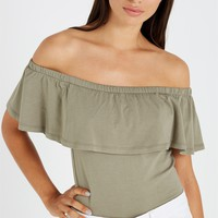 rae ruffle off the shoulder top