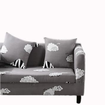 cute sheep Stroke light grey sofa cover with elastic Stretch Sofa Slipcover Sofa Cover Chair Cover 3 Seater Protector Couch