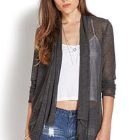 Sleek Shadow-Striped Cardigan