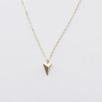SOLID PYRAMID NECKLACE - Christine Elizabeth Jewelry™