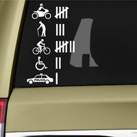 Funny Hit Accident Count Vinyl Sticker Decal JDM Humour joke Prank Car Truck 4X4