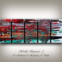 Original Acrylic Abstract painting ABSTRACT PAINTINGS Modern Art for sale LARGE modern art 60x24 abstract art for sale fine art Nandita