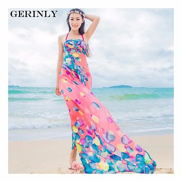 Scarves Pareo Sexy Women's Chiffon Sarongs Summer Bikini Scarf Swimsuit Dress Beach Cover Up Tunic Wraps Ladies Shawls 150*180cm