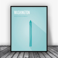 Washington Monument Art Print Poster