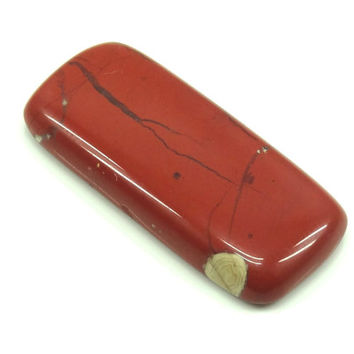 Red Jasper 34mm X 15mm rectangle cabochon stone, Craft Supply, Red Jasper cabochon, Red Jasper cabochon, Handmade cabochon