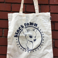 Black Fawn screen printed bags