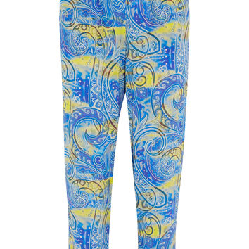 Etro - Printed silk-crepe pants