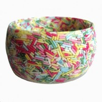 Pastel Cake Sprinkle Bracelet from Made By Daisy | Made By Made By Daisy | £25.00 | Bouf