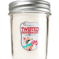 Mason Jar Candle Twisted Peppermint