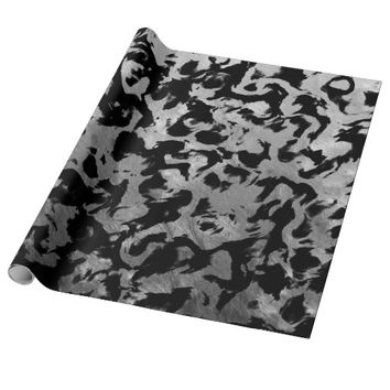 Abstract Magic - Silver Black Wrapping Paper