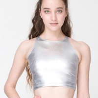rsac369 - Shiny Sleeveless Crop Top