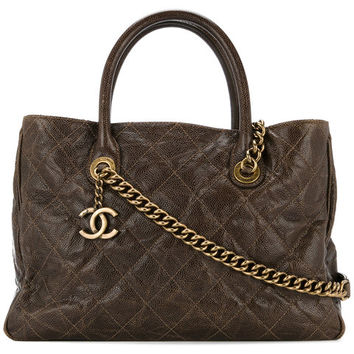 Chanel Vintage Quilted 2Way Tote - Farfetch