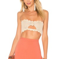 by the way. Cora Crochet Crop Top in Natural | REVOLVE