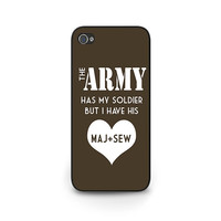 Army Girlfriend iPhone 5s Phone Cover - Amry Girlfriend iPhone 4s Phone Case - Amry Wife iPhone 5c Cover - Soldier iPhone 6 Phone Case