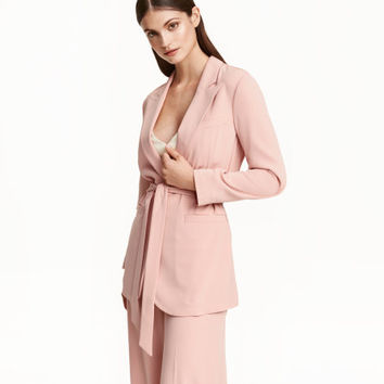 Jacket with Tie Belt - from H&M