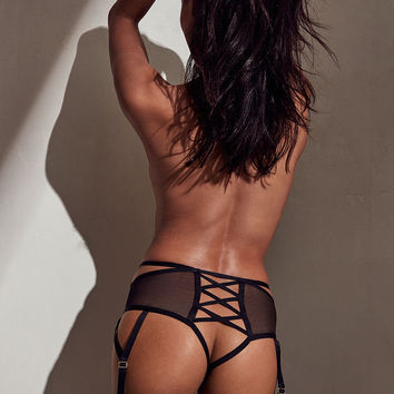 Mesh & Lace High-waist Thong Panty - Very Sexy - Victoria's Secret
