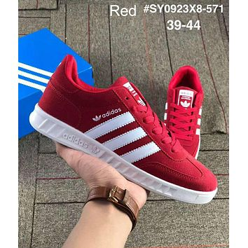 ADIDAS tide brand men and women casual sports slip wear shoes Red