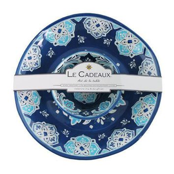 Le Cadeaux Havana Chip and Dip 2 Bowl Set