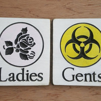 Restroom Signs His and Hers Ladies and Gents