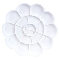 Watercolor Palette palette Art Alternatives Paint Tray Artist Plastic Supply White for kids students ACT020