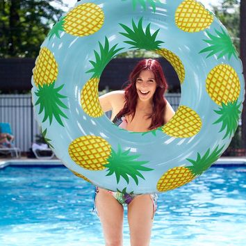 Giant Pineapple Print Inflatable Pool Float Summer Water Toys Air Mattress Lounger Boia Piscina