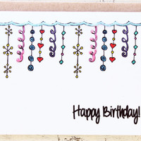 Birthday Card For Her - Glitter and Girly - Best Friend - Girlfriend