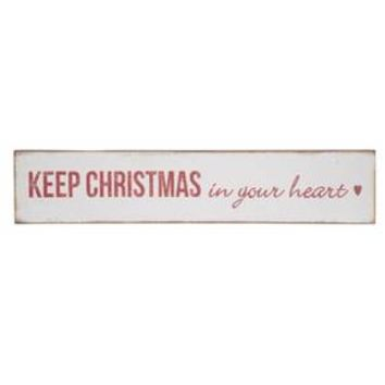 Foreside Home & Garden Christmas in Your Heart Wall Sign