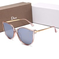 Dior Fashionable Simple Summer Sun Shades Eyeglasses Glasses Sunglasses Pink Frame Grey I-HWYMSH-YJ