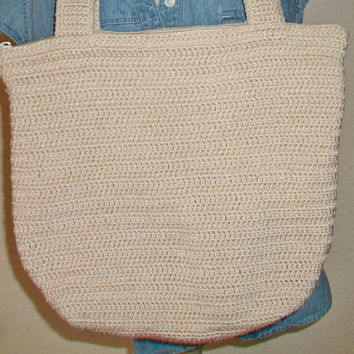 Charter Club Woven Bag Beige Macrame Knitted Purse Fashion Accessories For Her