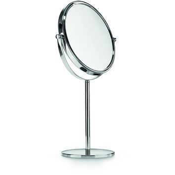 LB Table Mounted Double Sided 3X Cosmetic Makeup Magnifying Mirror Chrome