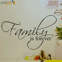 Family is forever home decor creative quote wall decals 8068 decorative adesivo de parede removable vinyl wall stickers SM6