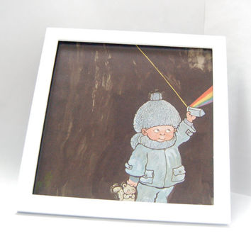 Framed Vintage Children's Book Illustration - PRISM