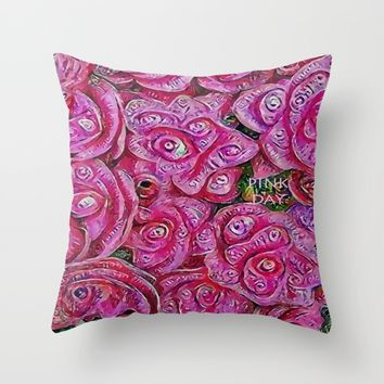 :: Pink Day :: Throw Pillow by :: GaleStorm Artworks ::